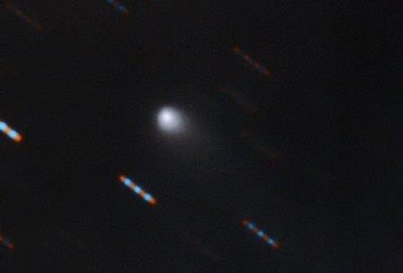 Цветной снимок недавно открытой кометы C/2019 Q4 (Borisov) © Gemini Observatory/NSF/AURA