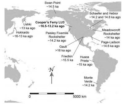 Карта, на которой обозначены археологические памятники, упоминаемые в тексте