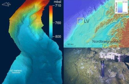 На дне Норвежского моря существует источник пресной воды