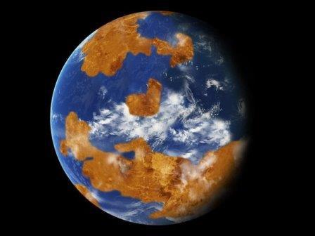Венера с океанами © NASA
