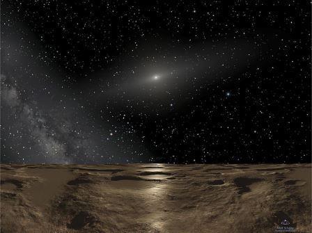 Вид Солнца с карликовой планеты Седна