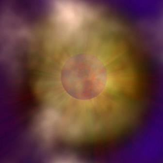 Нейтронная звезда, окутанная пеленой пыли и газа © Cardiff University