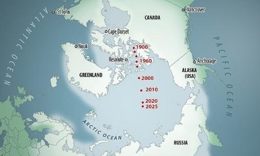 Как северный магнитный полюс перемещался с начала прошлого века © Baomoi