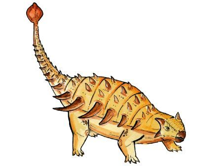 Как мог выглядеть анкилозавр. Изображение предоставлено авторами исследования.