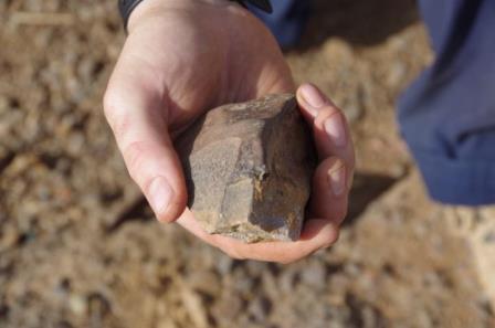 Недавно найденный артефакт из Ламинии, Сенегал © Eleanor Scerri