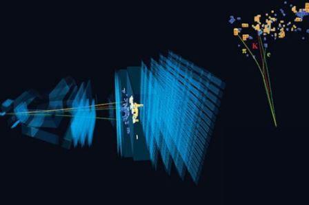 Схема распада необычной частицы, которая может намекать на неизвестную физику