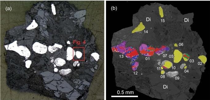 Общий вид горной породы с аллабогданит-баррингеритовой ассоциацией © Mineralogical Society of America