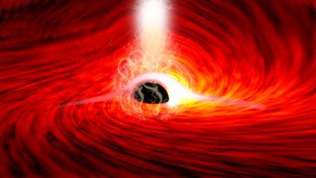 Исследователи наблюдали яркие вспышки рентгеновского излучения, возникающие при падении газа в сверхмассивную черную дыру. Вспышки отражались от газа, падающего в черную дыру, и по мере затухания вспышек были видны короткие вспышки рентгеновских лучей, соответствующие отражению вспышек от дальней стороны диска, огибающего черную дыру на Его сильное гравитационное поле. © Dan Wilkins