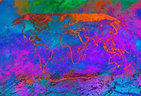 """Картина """"Изменение климата"""" эко-художницы Алисы Сингер © Alisa Singer"""