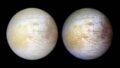 """Фотография спутника Юпитера Европы, которая была сделана в июне 1997 года с расстояния 776 700 миль космическим кораблем НАСА """"Галилео"""" © NASA, NASA-JPL, University of Arizona"""